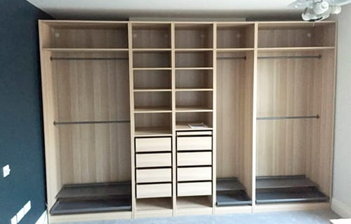Flat Pack Assembly Bedroom Fitted Wardrobe Second Step